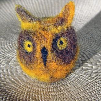 Миниатюрная валяная фигурка совы1