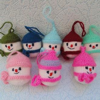 Одна на выбор игрушка ручной работы на елку Снеговик