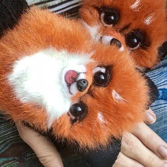 Митенки с яркими лисичками