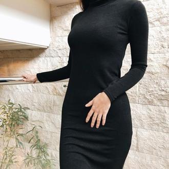 Теплое платье гольф из Ангоры
