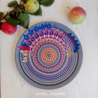 "Декоративная тарелка ""Мандала"""