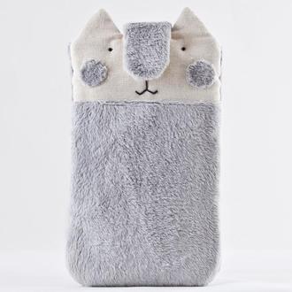 Чехол для телефона кот, Пушистый чехол для телефона, Подарок девушке