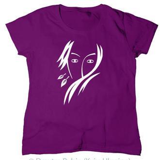Эксклюзивная футболка.  Стильный женский образ. Авторская графика.