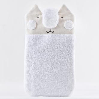 Чехол для телефона кот, Подарок девушке, Чехол для iPhone 7 Plus/ 8 Plus Тканевый чехол для телефона