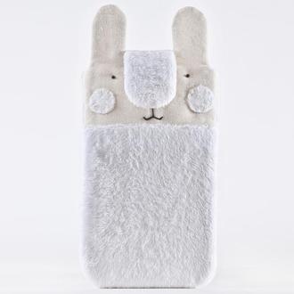 Пушистый чехол для iPhone XS Max кролик, Чехол для Huawei, Чехол для Galaxy S8 Plus