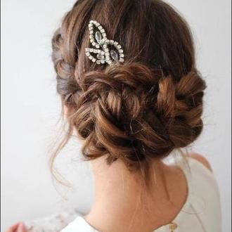 Шпилька для невесты свадебная шпилька с кристаллами украшение для подружек невесты