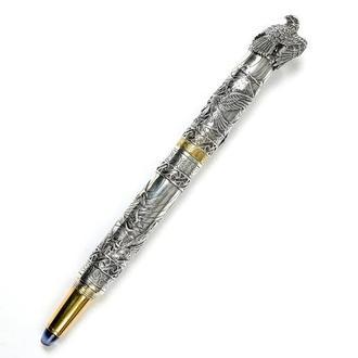 """Серебряная ручка """"Орел"""" с изумрудом. Барельефное литье"""