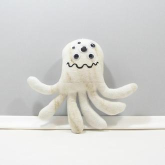 Добрый инопланетный монстр Необычный мягкий декор Мраморный монстрик многоглазый пришелец игрушка