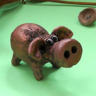 Свинка медная статуэтка свиньи