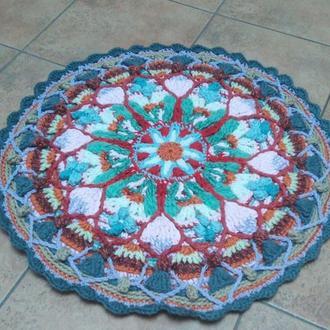 Вязаный крючком коврик-Мандала