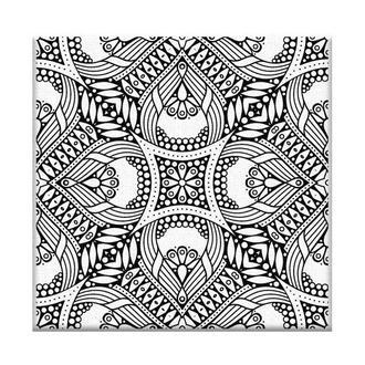 Раскраска-антистресс 'Орнамент', на холсте 20х20 (AR08)