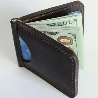 Зажим для денег (10 цветов), кожаный зажим, деньгодержатель, клипса для денег из натуральной кожи.
