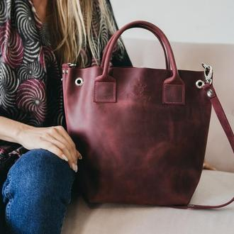 Шкіряна сумка, жіноча  сумка, кожаная сумка через плечо ручной работы, сумка из кожи Крейзи Хорс