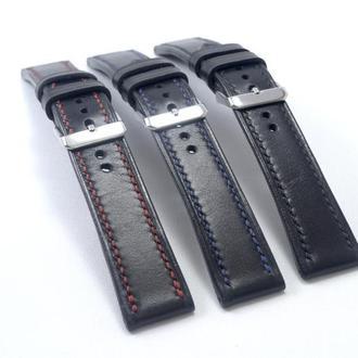 Ремешок на часы из натуральной кожи ручной работы, WS 004