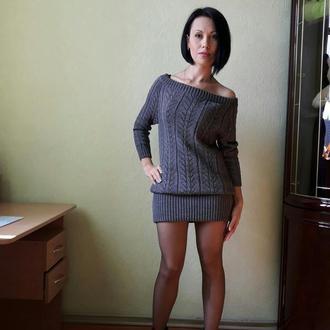"""Платье-туника """"Серой дымки нежный плен"""""""