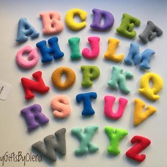 Английский алфавит из фетрв