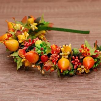 Осенний обруч ободок Груша на праздник осени