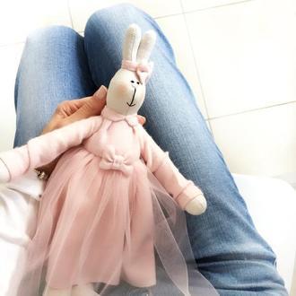 Игрушка заяц розовое платье кро́лик подарок майлег