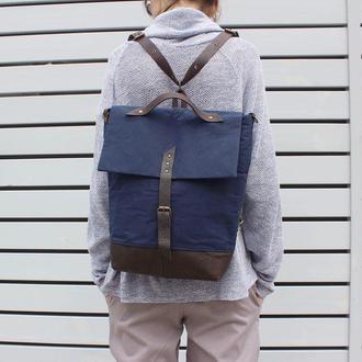 Рюкзак - сумка (синий)
