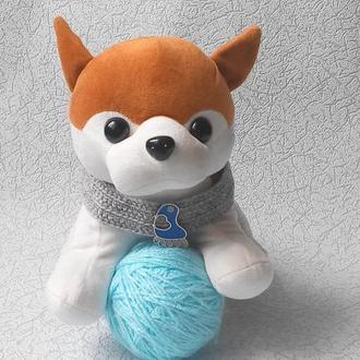Вязанный ошейник для собаки или кота