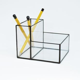 Стеклянный органайзер, карандашница (Мосариум) под карандаши и ручки