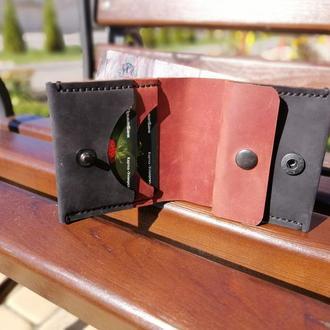 Кожаный кошелёк-портмоне из натуральной кожи  Revier. Идеальный подарок на любой повод