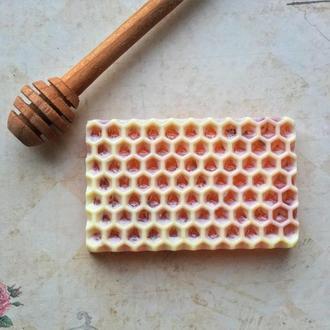 Мыло сувенирное Медовая сота ручной работы