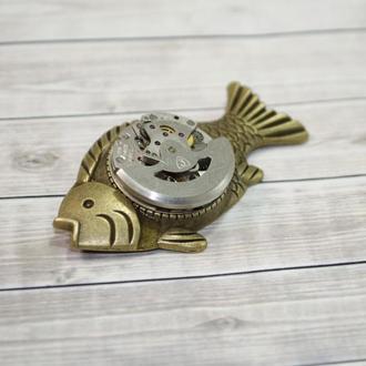 Брошь Рыба в стиле Стимпанк Steampunk