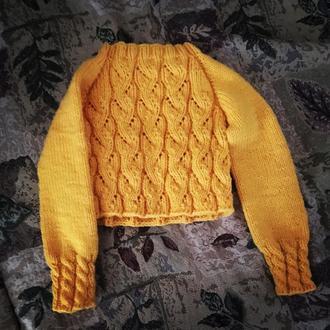 Пуловер для девочки / свитер/ вязаный пуловер