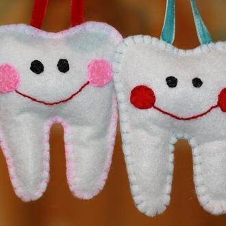 Зубки из фетра