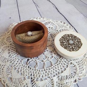 Шкатулка для свадебных колец Подушка для подношения обручальных колец