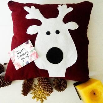 Интерьерная новогодняя подушка