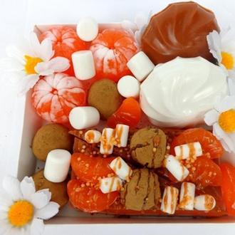 Набор мыла и скраба «Мандарины в шоколаде»