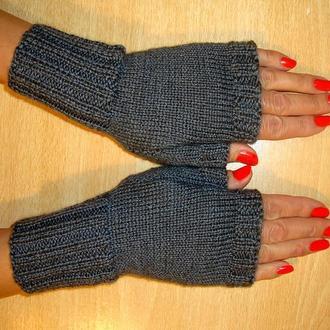 Митенки - перчатки без пальцев вязаные - Ультракомфорт и тепло