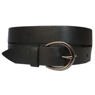 Classic30B2 женский кожаный черный ремень пояс натуральная кожа кожанный гладкий