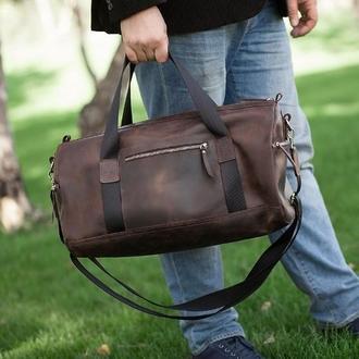Кожаная спортивная дорожная сумка