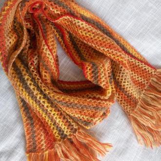 Вязаный шарф палантин ,,Осень,,