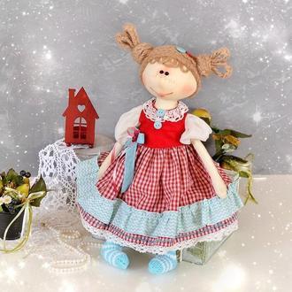 Кукла авторская игровая текстильная. Интерьерная кукла. Тканевая кукла. Подарки для девочек.