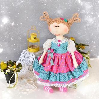 Текстильная авторская кукла . Кукла интерьерная в детскую комнату. Кукла для игры.