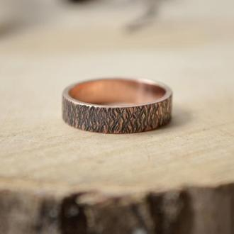 Медное Кованное кольцо Степные травы