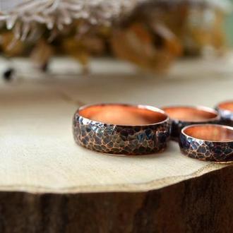Кованое кольцо обручальное