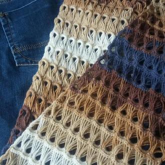 Шарф-снуд В джинсовом стиле