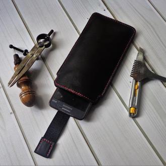 Кожаный чехол для телефона. Изготовление чехлов.