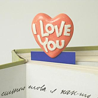 Закладка  книжная. I LOVE YOU