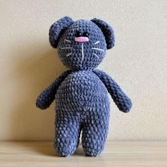 Кот плюшевый зефирный вязаный амигуруми вязаные игрушки