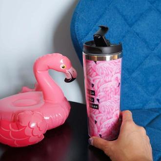 """Термокружка ZIZ """"Фламинго"""". Код:21062"""