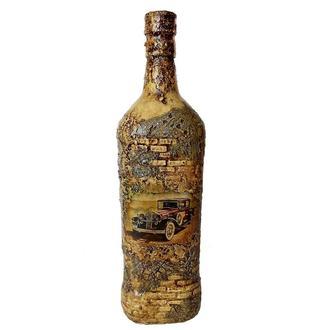 Подарочная  бутылка «Ретроавто» Подарок мужчине водителю на день автомобилиста