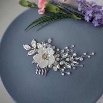Свадебное украшение для волос. Гребешок в прическу