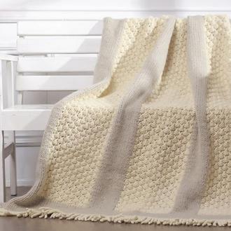 Плед CAMBERLY, серый+белый, 1400х1850