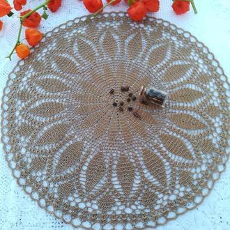 Салфетка вязаная для декора